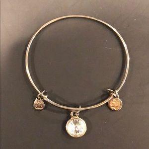 Alex and Ani April birthstone bracelet in silver